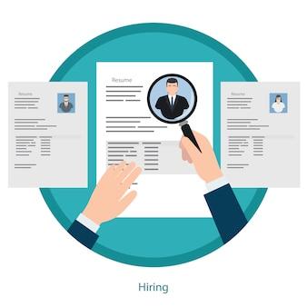 Concept de recrutement et de préparation de curriculum vitae