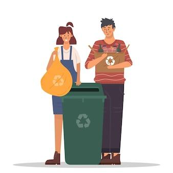 Concept de recyclage des personnes