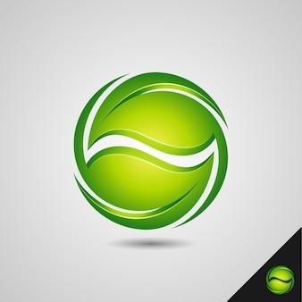 Concept de recyclage de symbole de feuille de nature