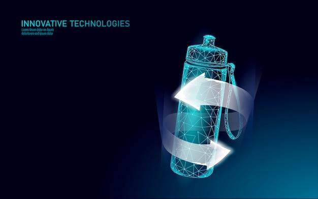 Concept de réhydratation de l'eau bouteille aqua sport. soins de santé contre la déshydratation boisson électrolytes isotoniques. illustration de sportif de remise en forme.