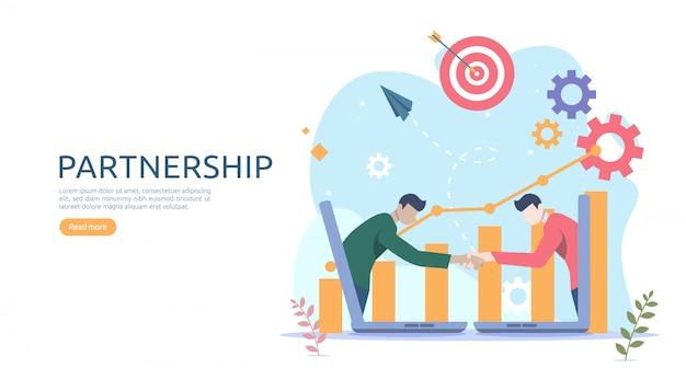 Concept de relation de partenariat d'affaires