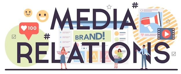 Concept de relations avec les médias