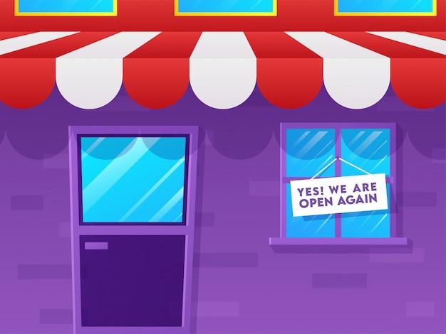 Concept de réouverture de magasin après une pandémie.