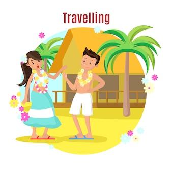 Concept de repos de plage tropicale d'été