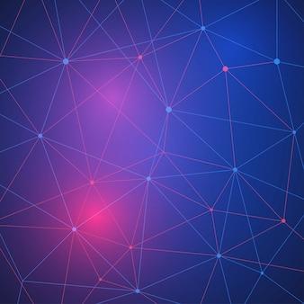 Concept de réseau blockchain, ledger distribué, technologie de connexion informatique.