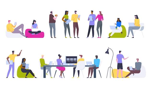 Concept de réseau social et de travail d'équipe