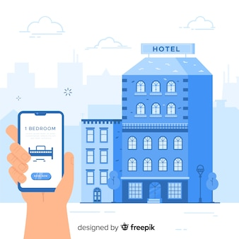 Concept de réservation d'hôtel dans un style plat