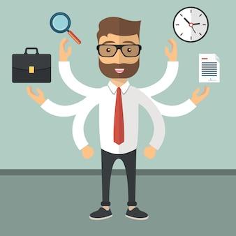 Concept de ressources humaines et d'auto-emploi
