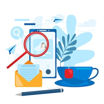 Concept de ressources humaines, choix, carrière, emploi, cv, recherche d'emploi, compétence professionnelle. concept d'illustration vectorielle plat moderne, isolé sur fond blanc.