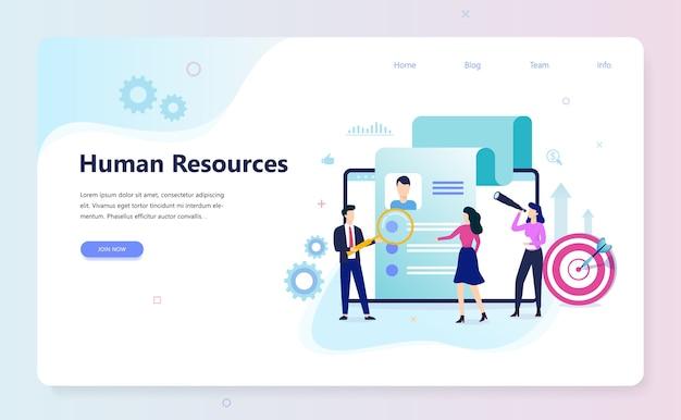 Concept de ressources humaines. idée de recrutement et d'emploi