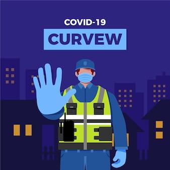 Concept de restrictions de couvre-feu de coronavirus