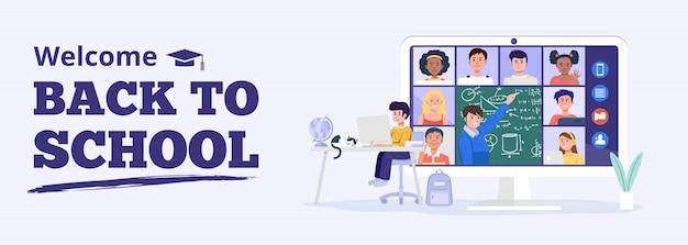 Concept de retour à l'école.