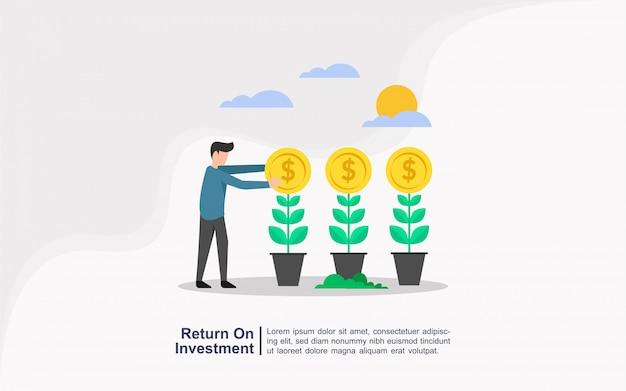 Concept de retour sur investissement à caractère humain