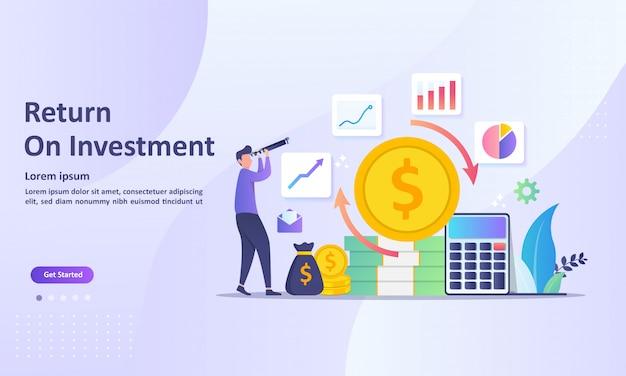 Concept de retour sur investissement