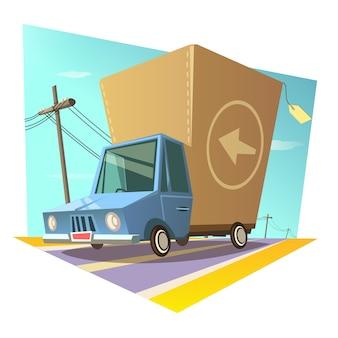 Concept rétro d'entrepôt
