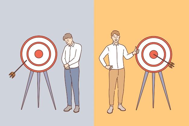Concept de réussite et d'échec commercial