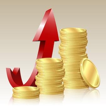 Concept de réussite financière