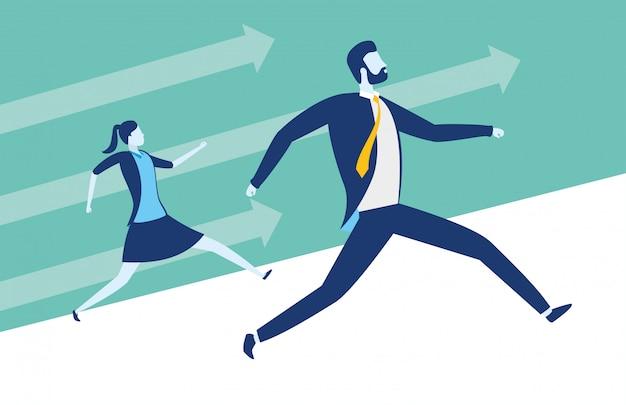 Concept de réussite des gens d'affaires