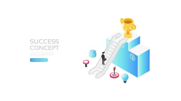Concept de réussite, raccourci vers le succès