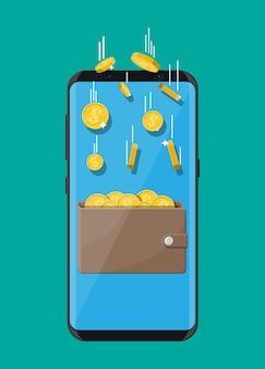 Concept de revenu en ligne.