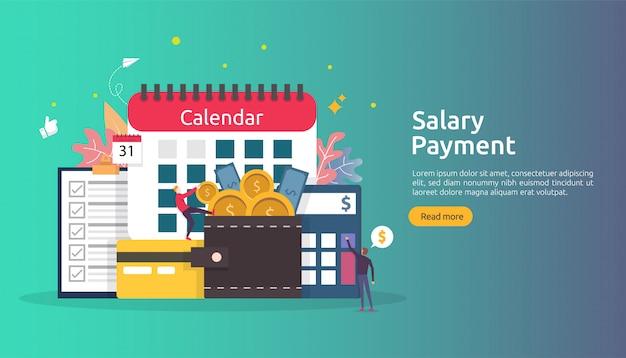 Concept de revenu de paie. paiement du salaire prime annuelle.