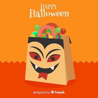 Concept de sac de halloween créatif