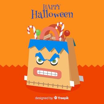 Concept de sac de halloween moderne
