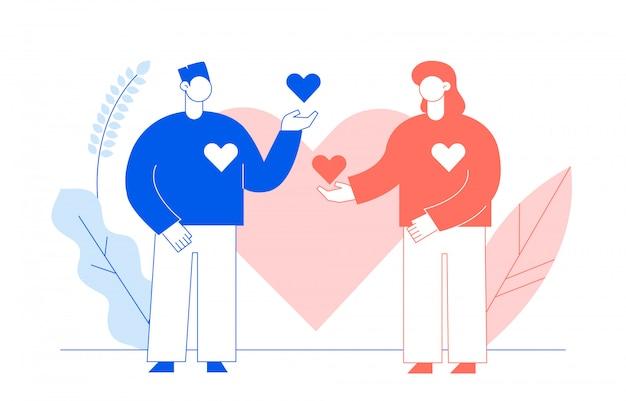 Concept de la saint-valentin avec des gens
