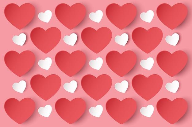 Concept de la saint-valentin heureuse. modèles sans couture avec des coeurs.