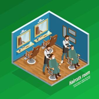 Concept de salle de coupe de cheveux