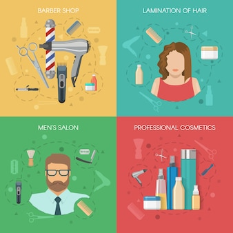 Concept de salon de coiffure