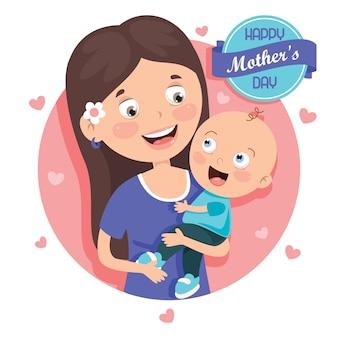Concept de salutation de la fête des mères
