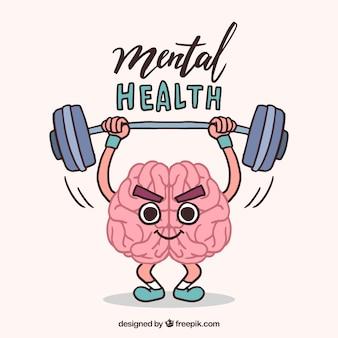 Concept de santé mentale dessinés à la main