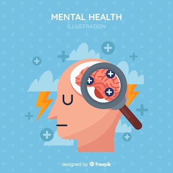 Concept de santé mentale moderne au design plat