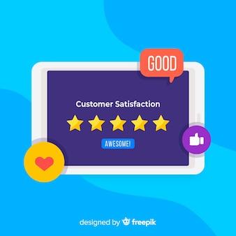 Concept de satisfaction client plat