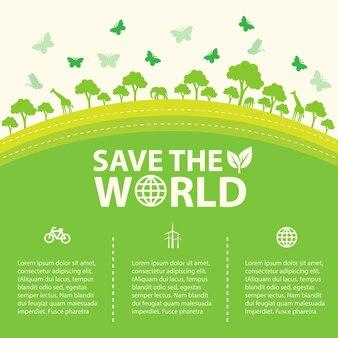 Concept sauver le monde
