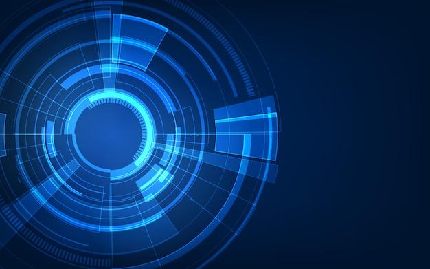 Concept de science-fiction abstrait technologie futuriste