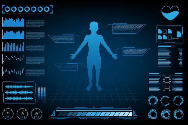 Concept de science futuriste abstraite concept de science humaine