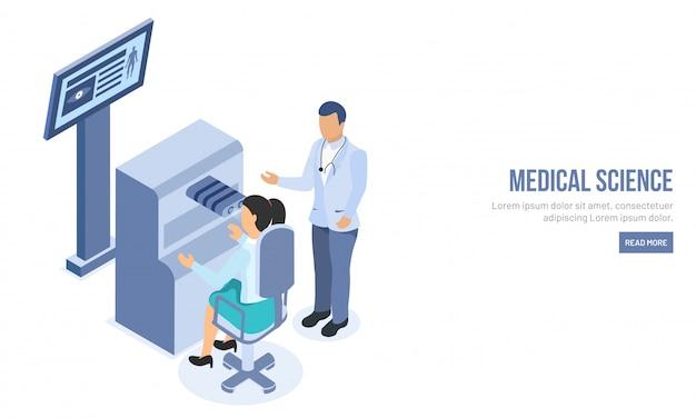Concept de science médicale isométrique.