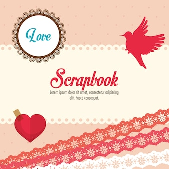 Concept de scrapbook