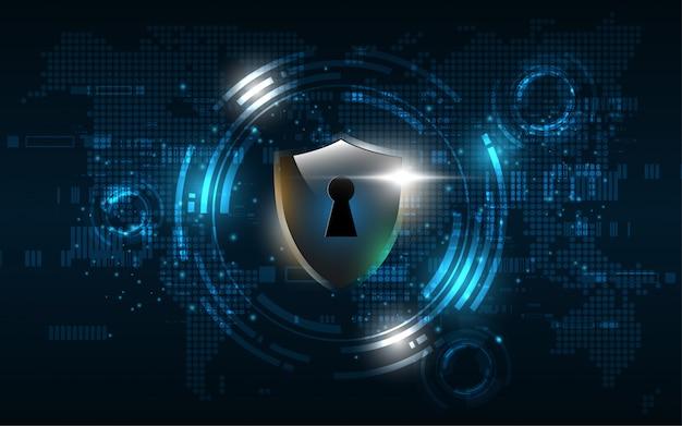 Concept de sécurité 3d garde protégé bouclier sécurité cyber numérique abstrait technologie
