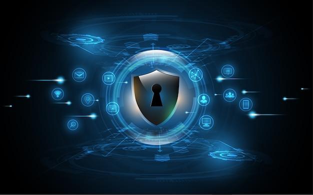 Concept de sécurité de bouclier de garde 3d protégé