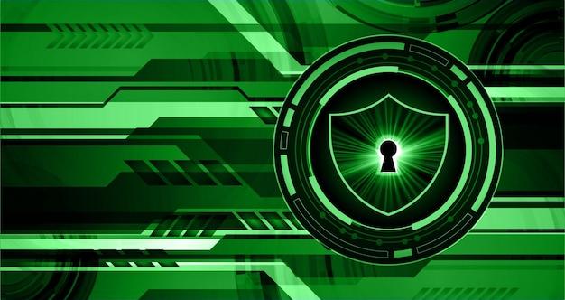 Concept de sécurité cadenas fermé sur la cyber-sécurité numérique abstrait bleu internet haute vitesse