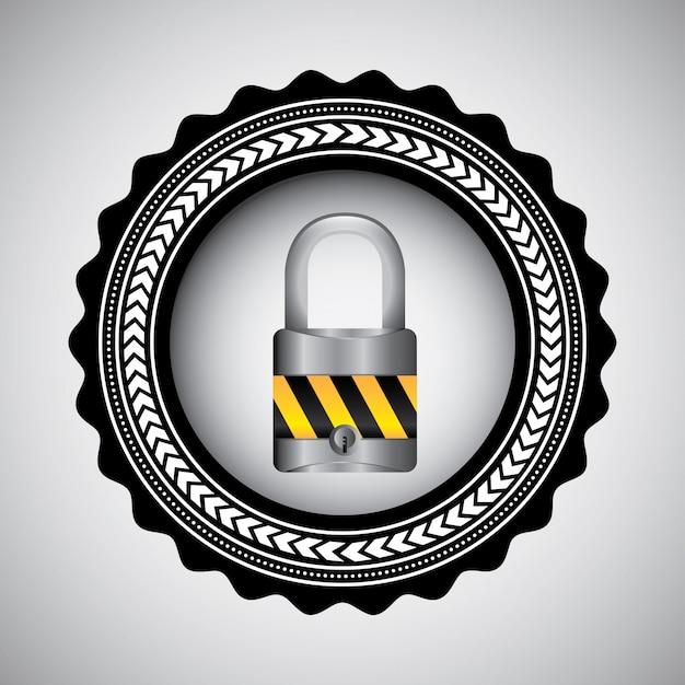 Concept de sécurité avec cadenas
