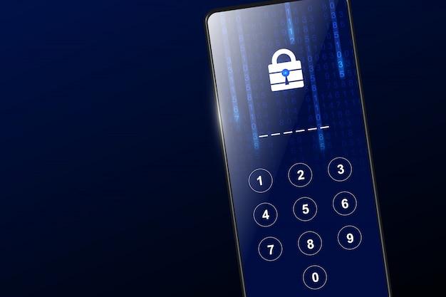 Concept de sécurité technologique sur smartphone