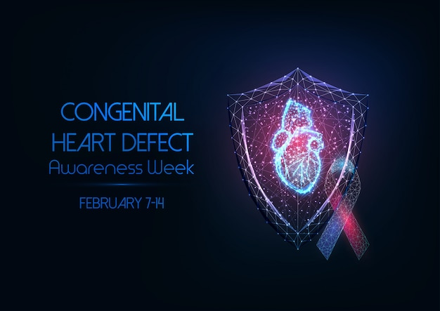 Concept de semaine de sensibilisation aux malformations cardiaques congénitales