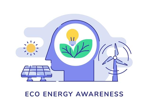 Concept de sensibilisation à l'énergie écologique