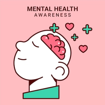 Concept de sensibilisation à la santé mentale