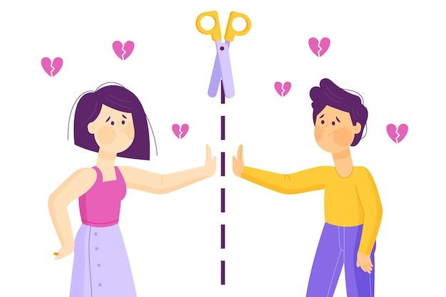 Concept de séparation du divorce