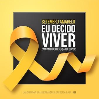 Concept de septembre jaune